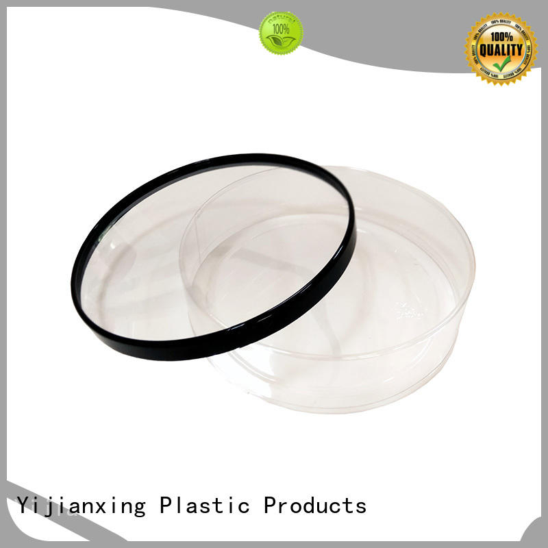 Large Clear Plastic Cylinder Containers with Lids for Food