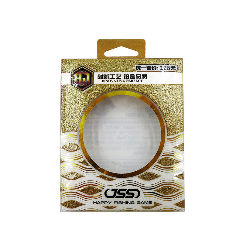 Gold Stamping PET Box with Clear Window for Fishing Line