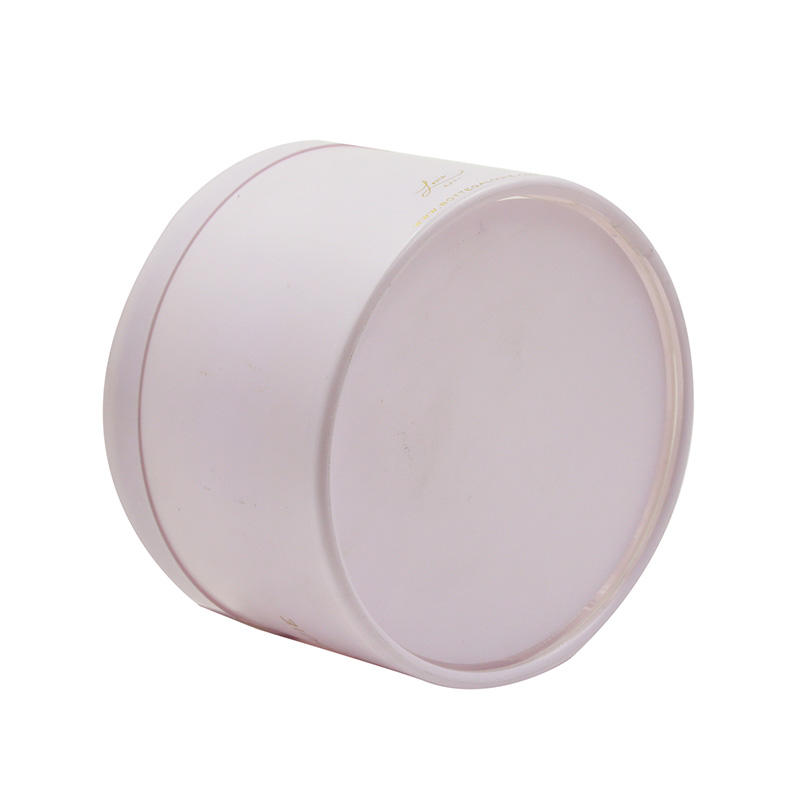 Pink PET Cylinder/Oval Plastic Box with Lid for Candy