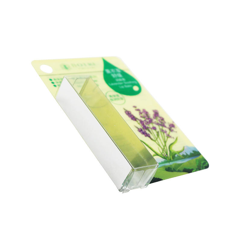 Custom Plastic PVC Packaging Box with Plastic Card for Lip Balm