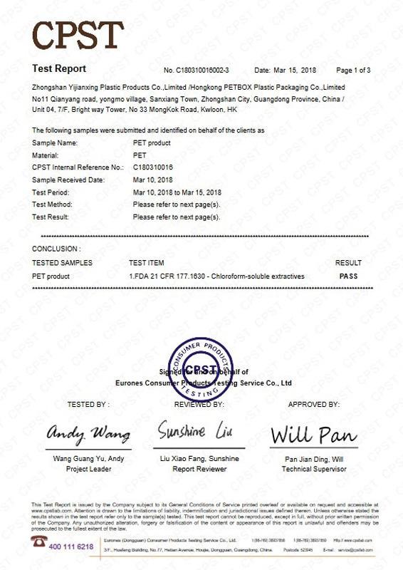 C180310016002-3 yijianxing FDA