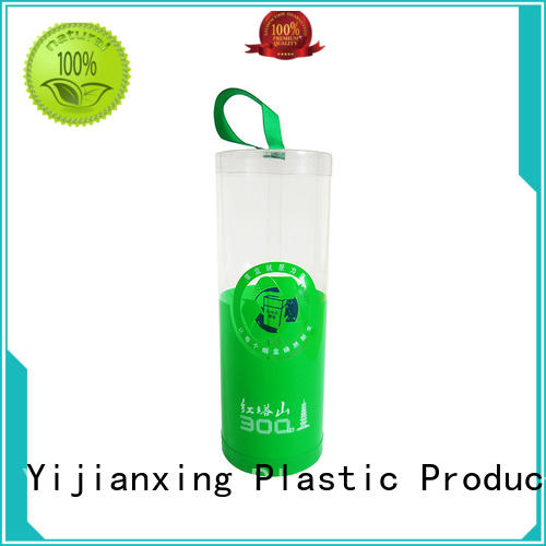 clear clear plastic tubes with end caps printed box Yijianxing Plastic Products Brand