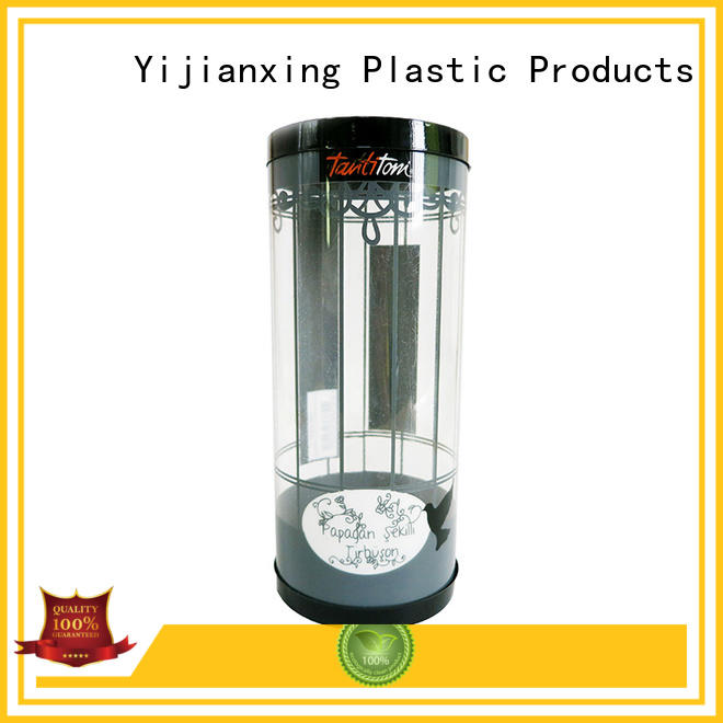 small containers box clear plastic tubes with end caps Yijianxing Plastic Products Brand