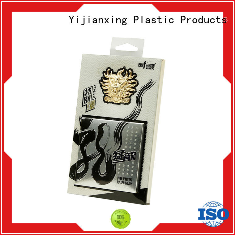 logo printing plastic box packaging with cheap price for gift