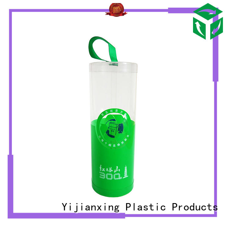 lids pink Yijianxing Plastic Products Brand clear plastic tubes with end caps factory