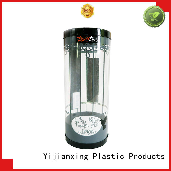 Wholesale pet clear plastic tubes with end caps Yijianxing Plastic Products Brand