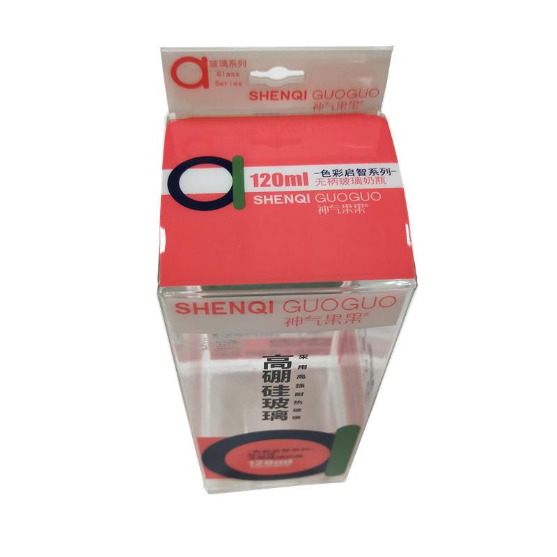 PP plastic feeding bottle soft box RF score packaging with STE bottom