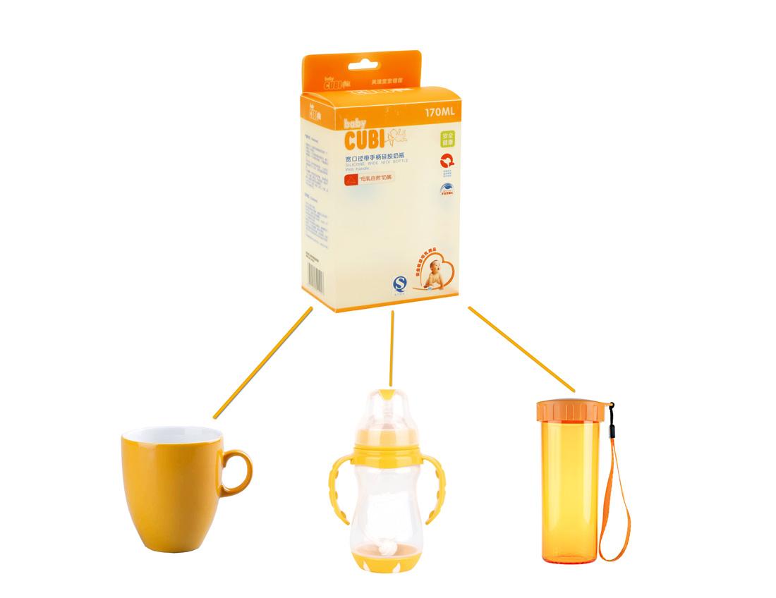 Custom Large Plastic Storage Box for 170ML Baby Nursing Bottle-8