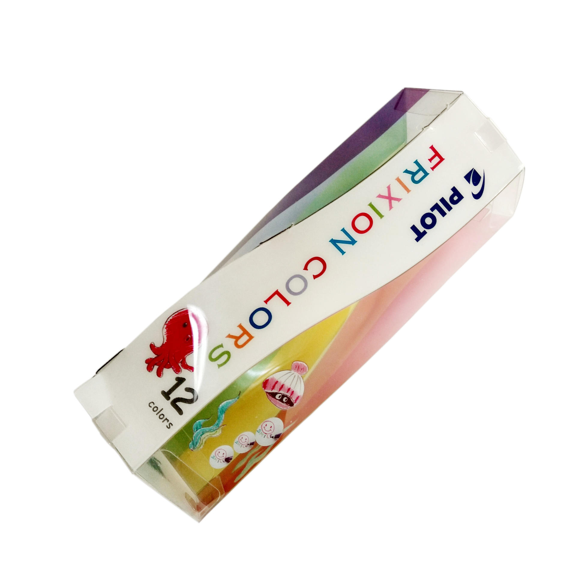 Spiral Shape Printing Plastic Tube Box for Crayon/Pen Set