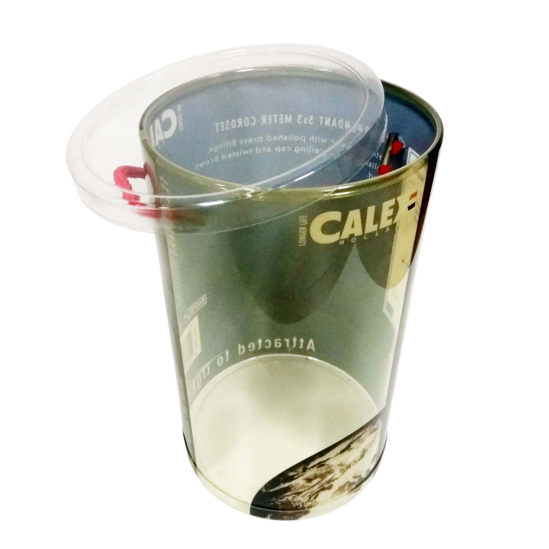 Large Plastic Round Container with Lid & Handle Rope