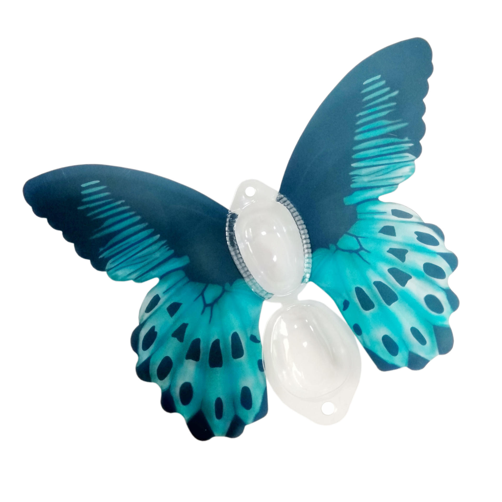 Butterfly shape printed fancy small plastic PET clamshell hanger box