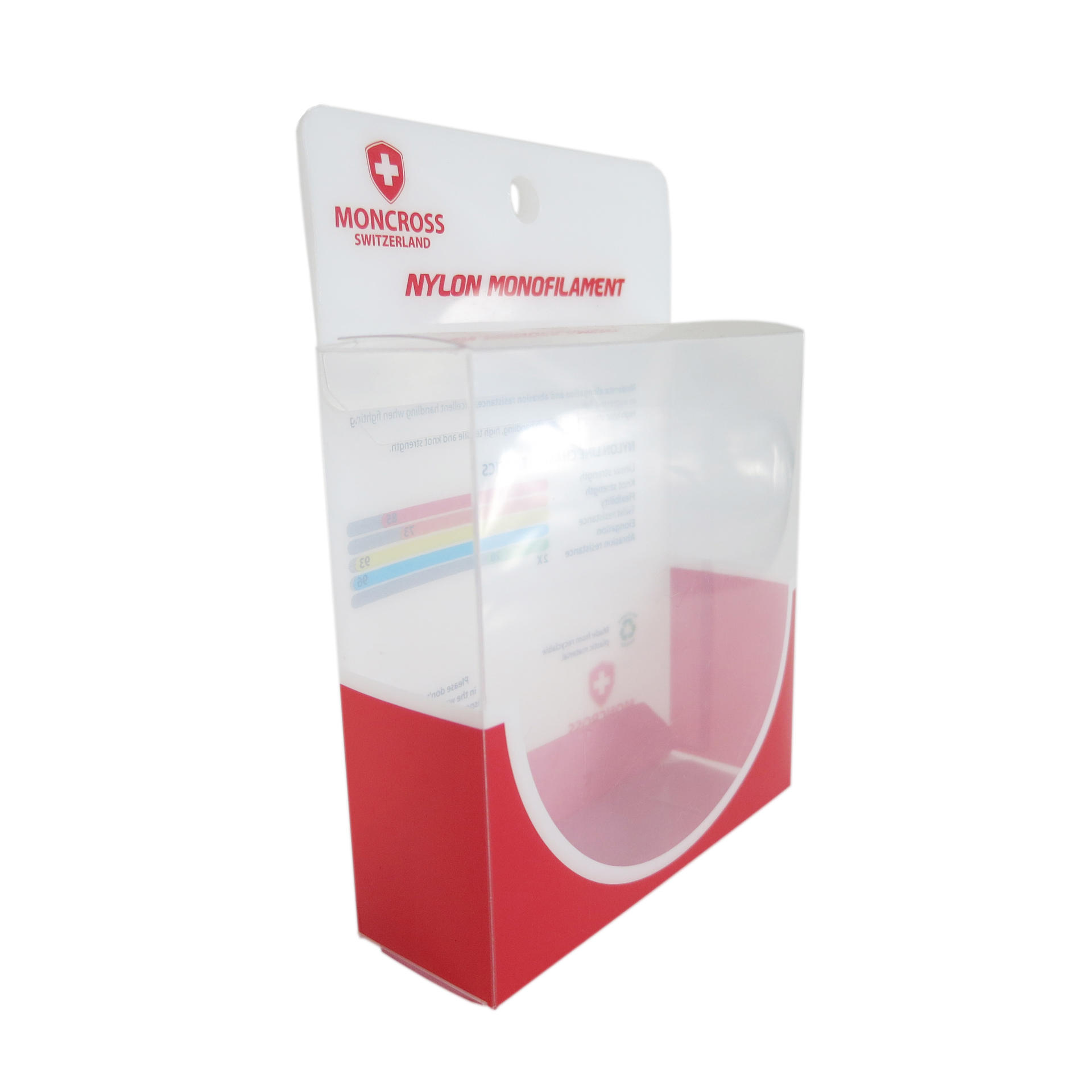 Typical Square Plastic Folding Packaging Box with Hanger Tab
