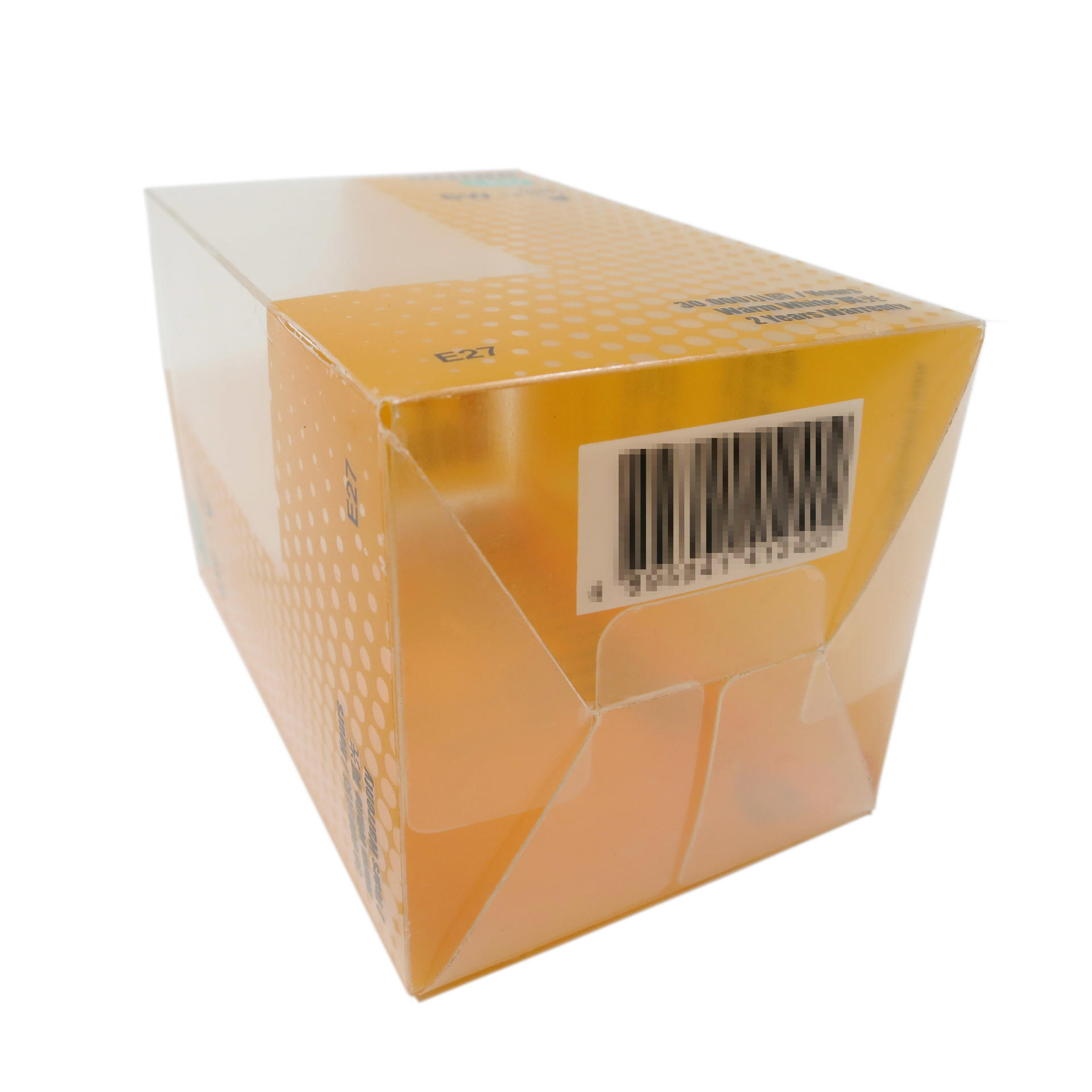 Retail Lock-End Closure Plastic Packaging Box for 6W LED Bulb