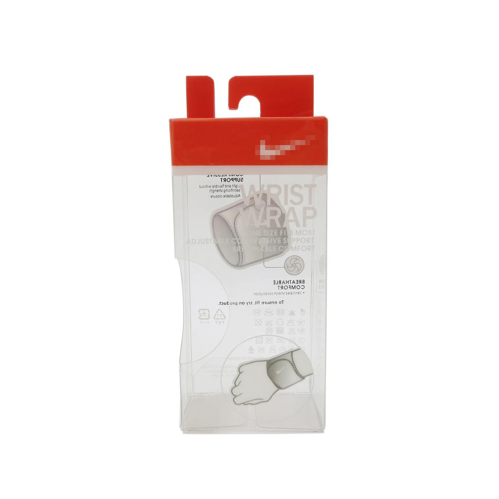 Printing Plastic Packaging Box with Cut-out Hole for Wrist Wrap