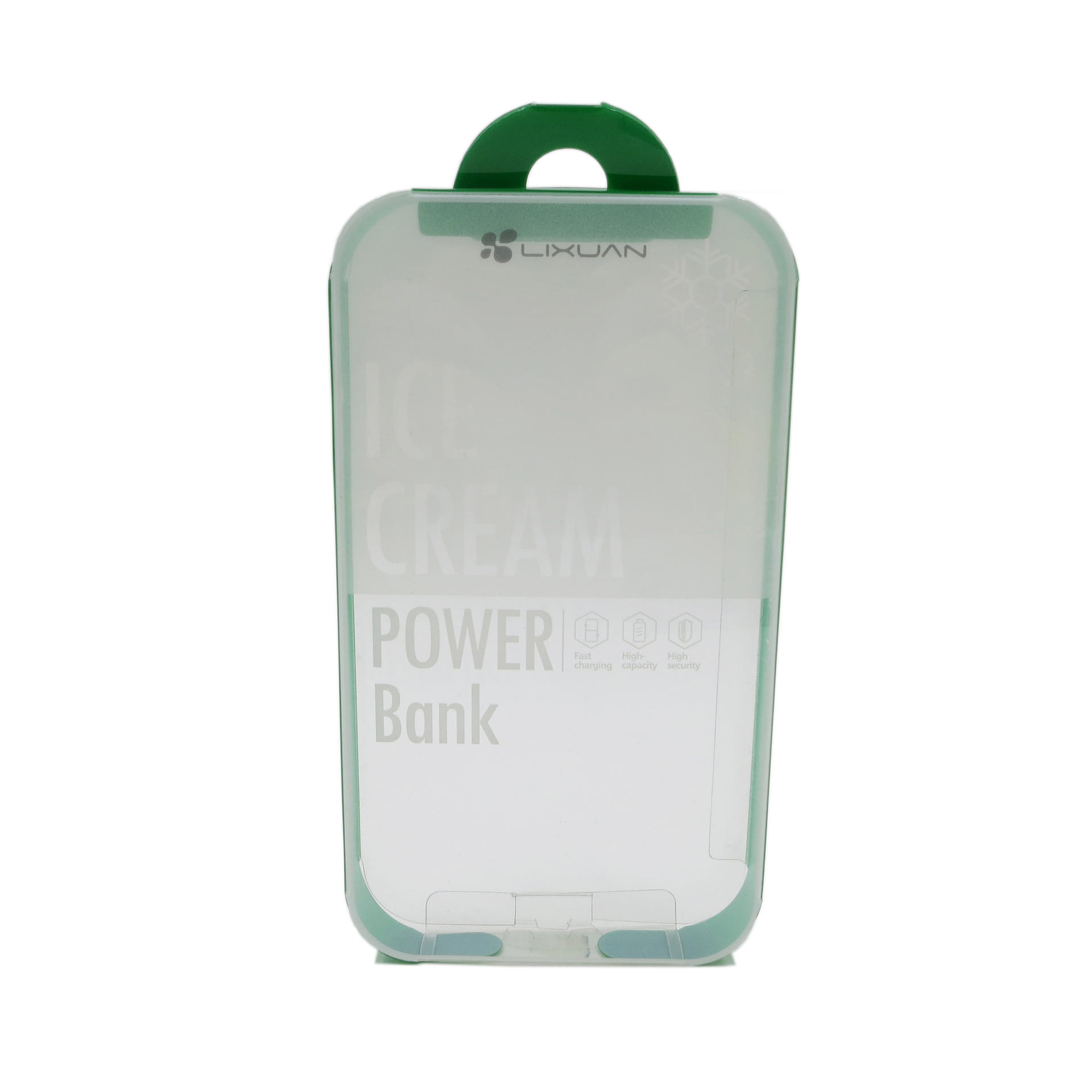 Semi-transparent Plastic Packaging Box for Power Bank