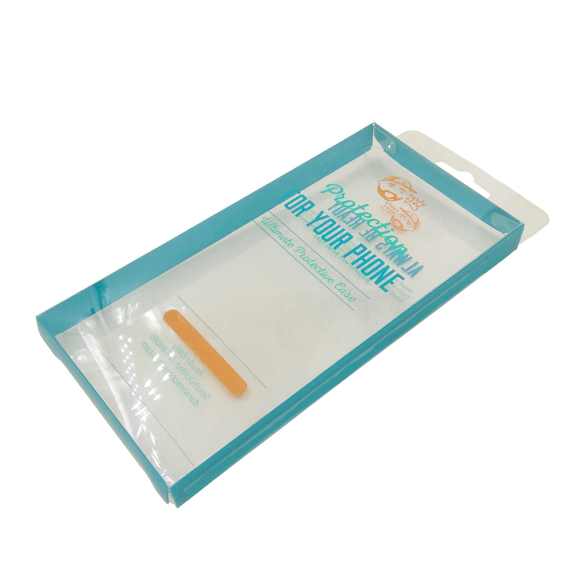 Clear Plastic Packaging Box for Cell Phone Protective Case W/ Custom Logo Printed
