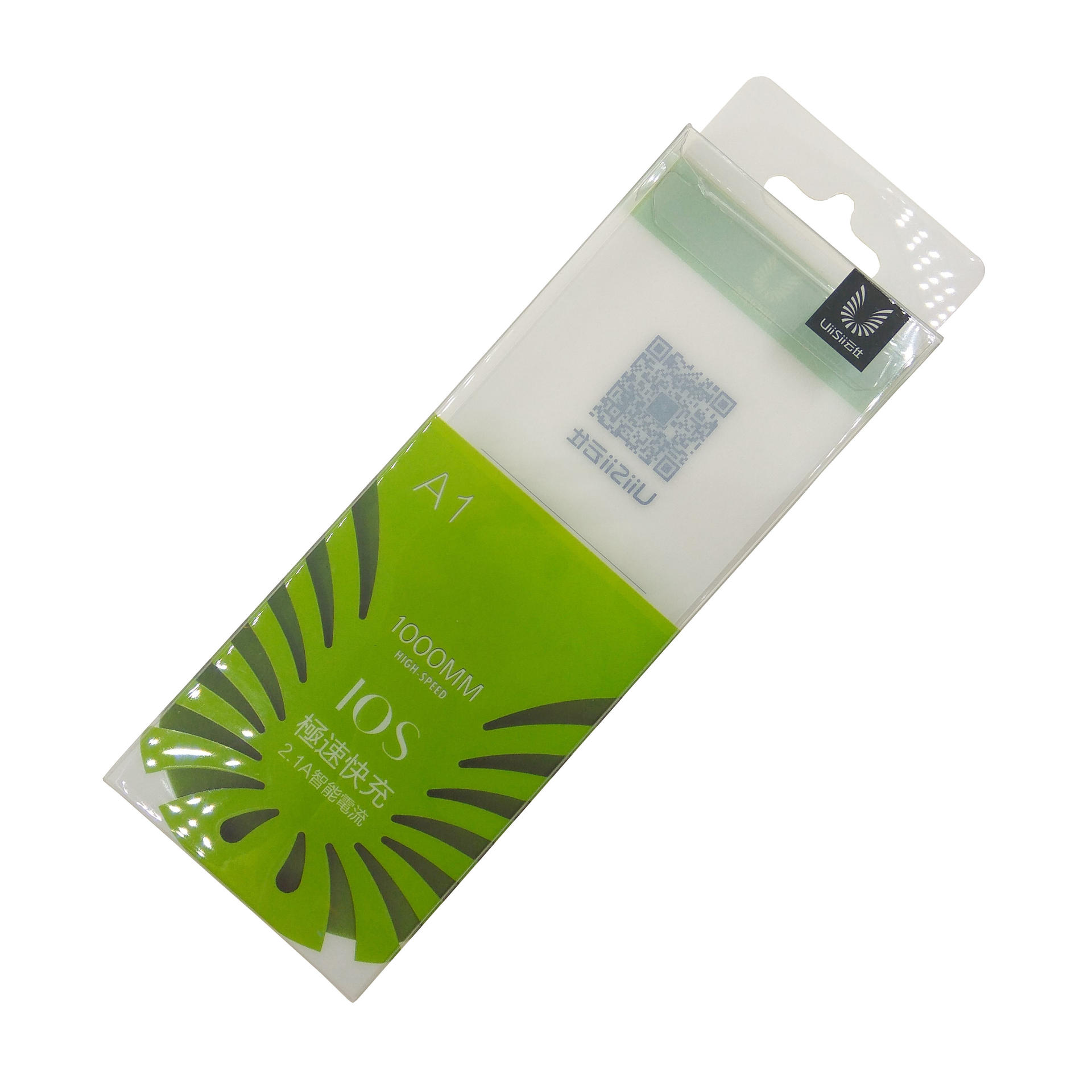 Soft Crease Plastic Retail Packaging with Euro Hole for 1000MM Power Bank