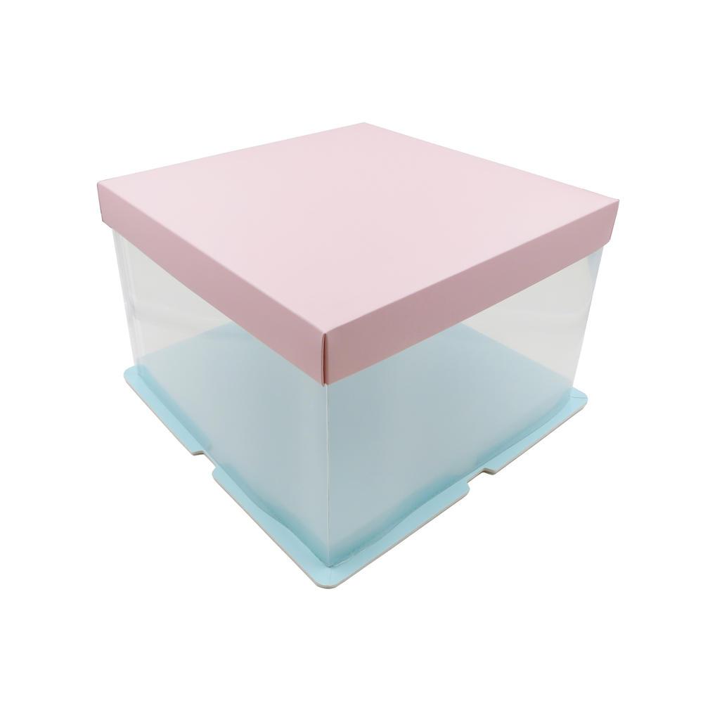 Food Grade Plastic Cake Box for 8