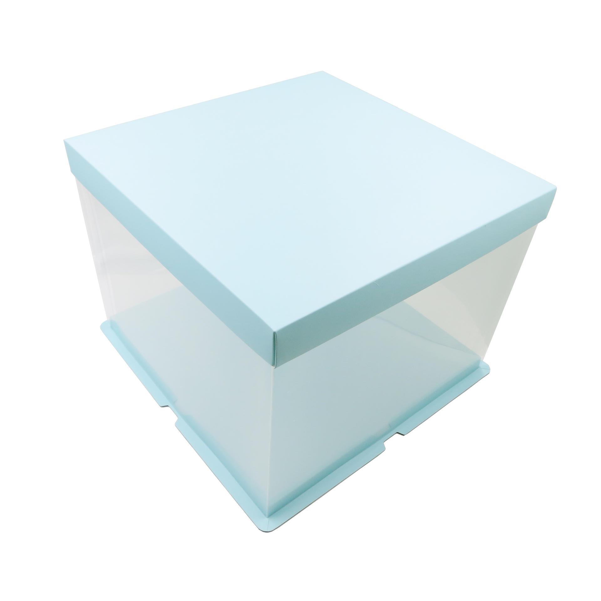 Food Grade PET Plastic Cake Box for 10