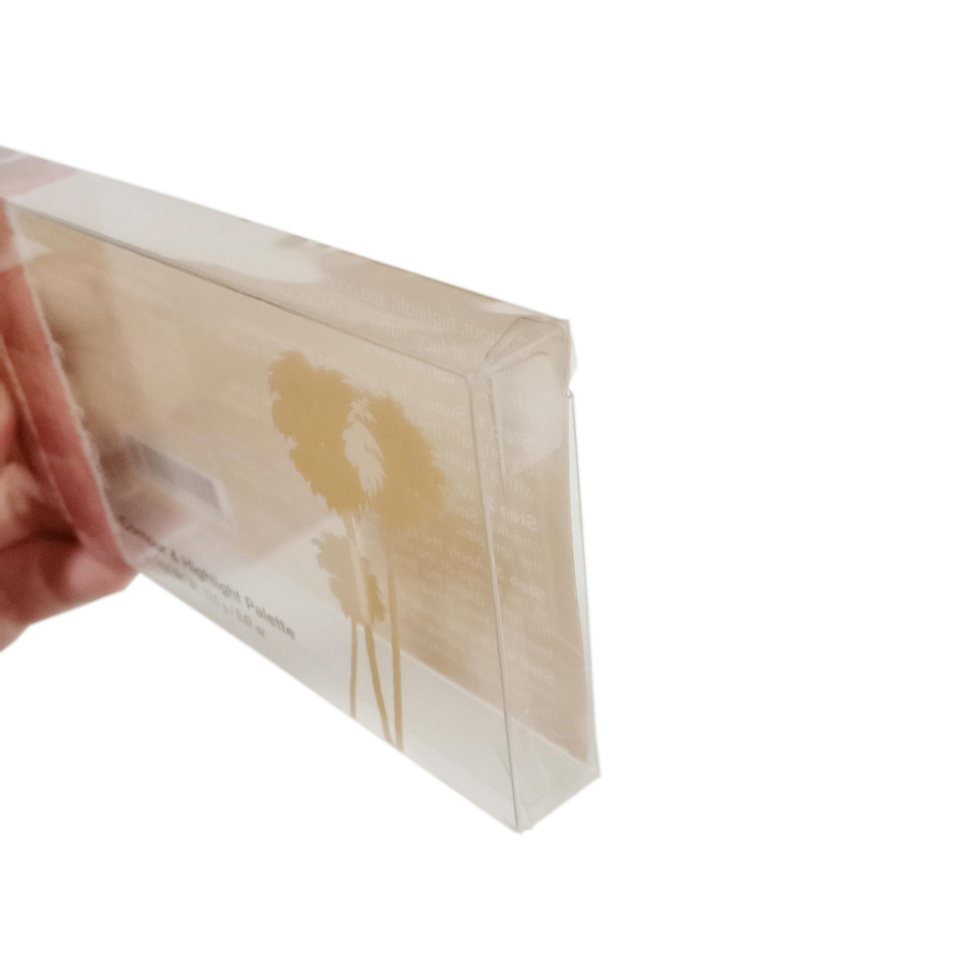 PVC Vinyl Box with Custom Printing for Cosmetic