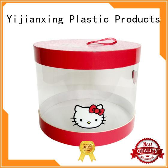 Large Capacity Plastic Tube Box with Cardboard Lid & Bottom