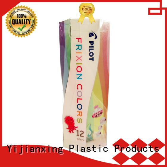 Spiral Shape Printing Plastic Tube Box for Crayon/Pen Set
