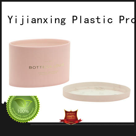 Yijianxing Plastic Products new-arrival plastic cylinder container with lid pink for food