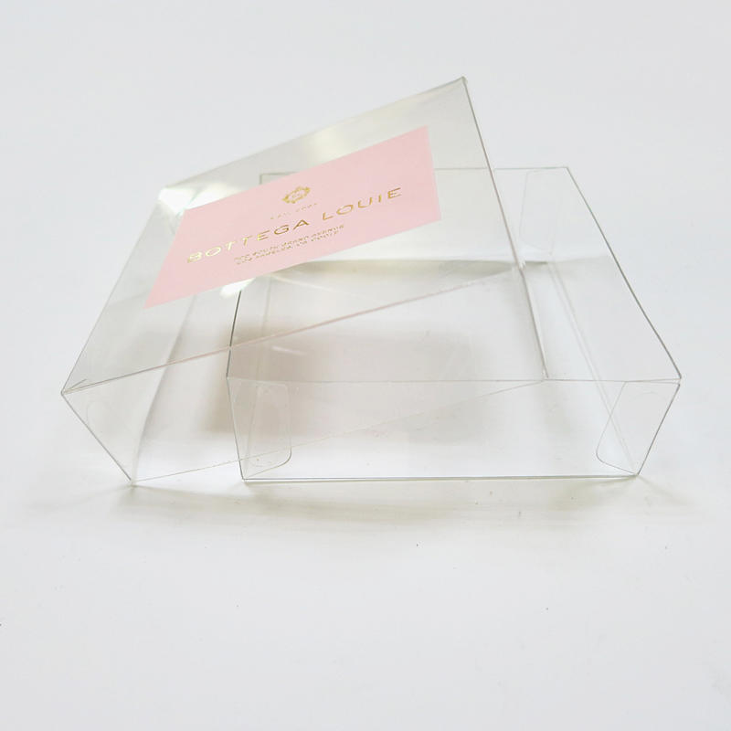 Food grade PET plastic base and lid packaging box for candy