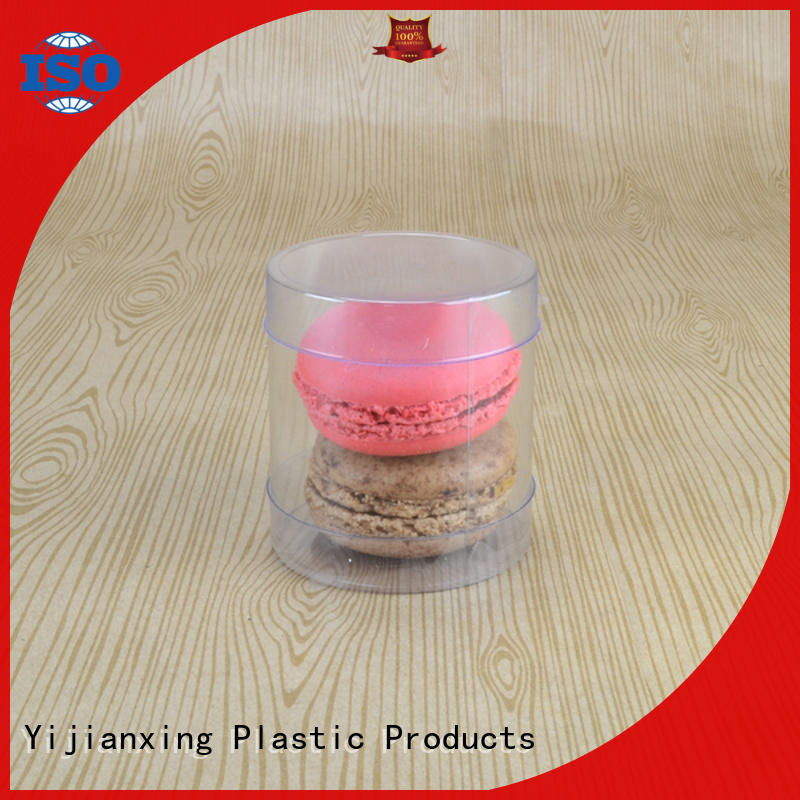 Clear plastic PET soft food grade cylinder round tube